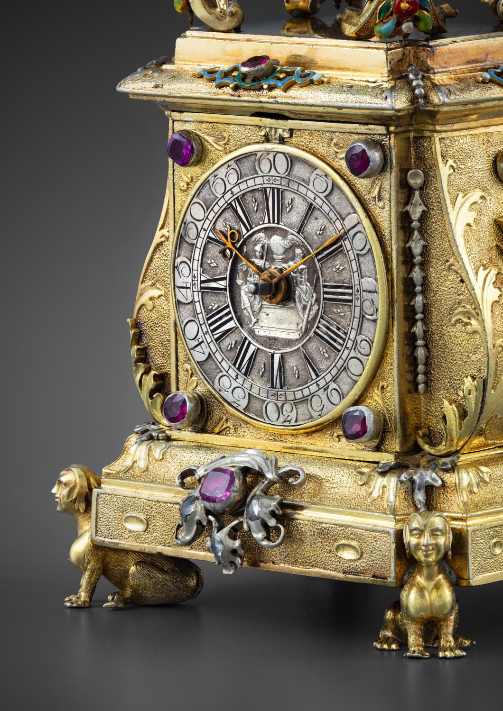 A precious miniature clock in its original case - Galerie Kugel