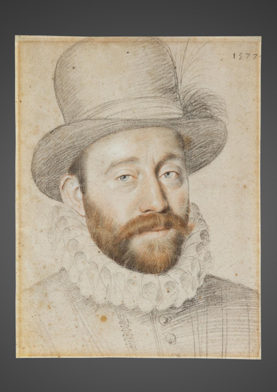 Gentilhomme coiffé d'un haut chapeau - Galerie Kugel