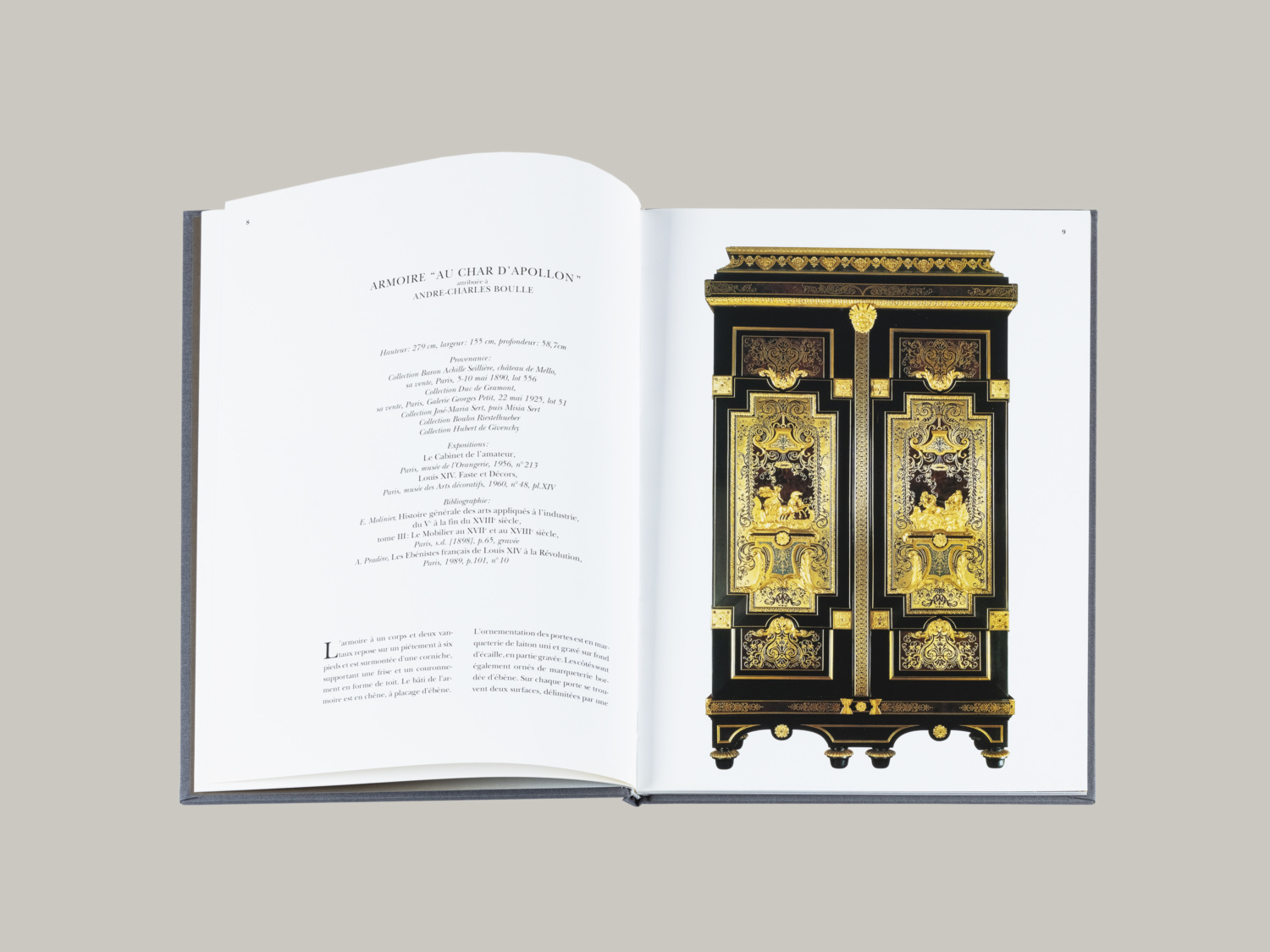 L'Armoire au char d'Apollon par André-Charles Boulle, provenant de la collection de M. Hubert de Givenchy - Galerie Kugel