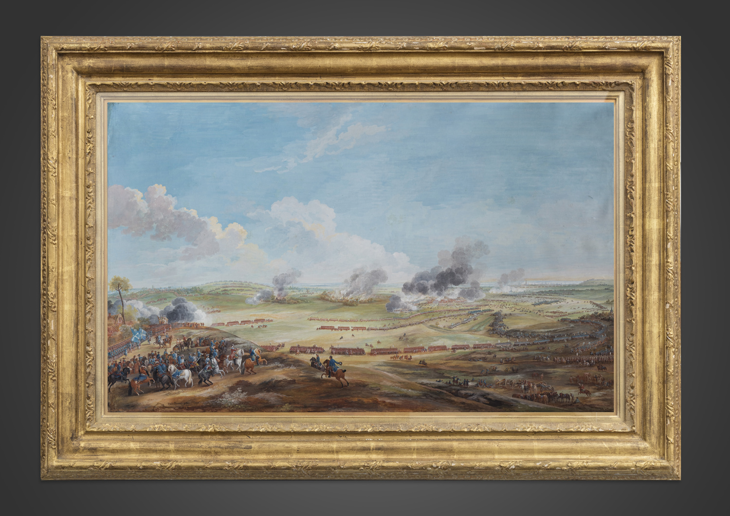 Perspective view of the battle of Lawfeld on 2nd July 1747 - Galerie Kugel