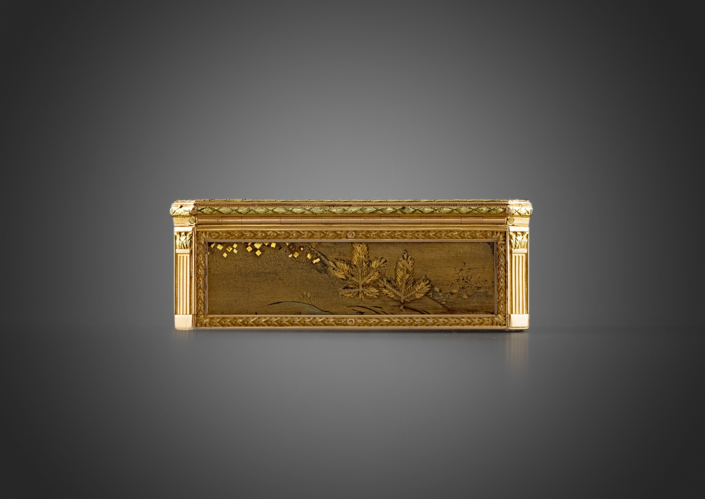 A rectangular gold mounted Japanese laquer box - Galerie Kugel
