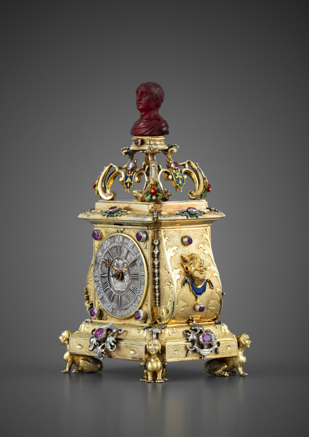 A precious miniature clock in its original case - Galerie Kugel