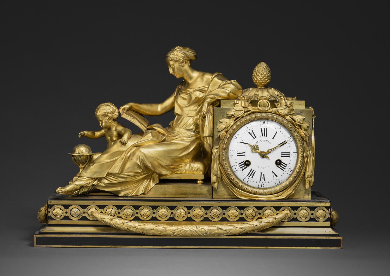 """A Louis XVI monumental ormolu clock """"à l'étude"""" - Galerie Kugel"""
