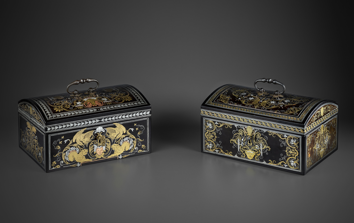 Two small marquetry caskets - Galerie Kugel