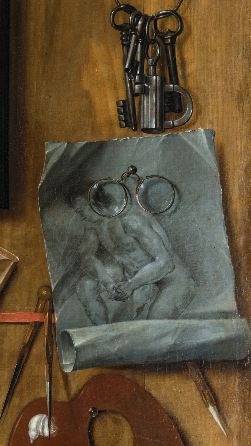 Trompe l'oeil with a plaster mask of Dante - Galerie Kugel